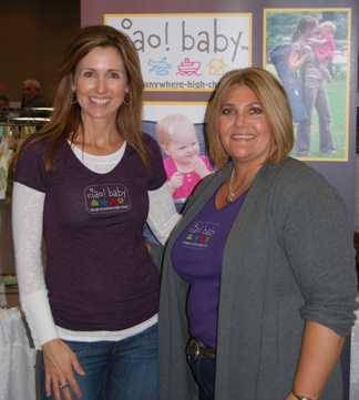 Inventors of ciao! baby Kim Strong and Jamye Baker